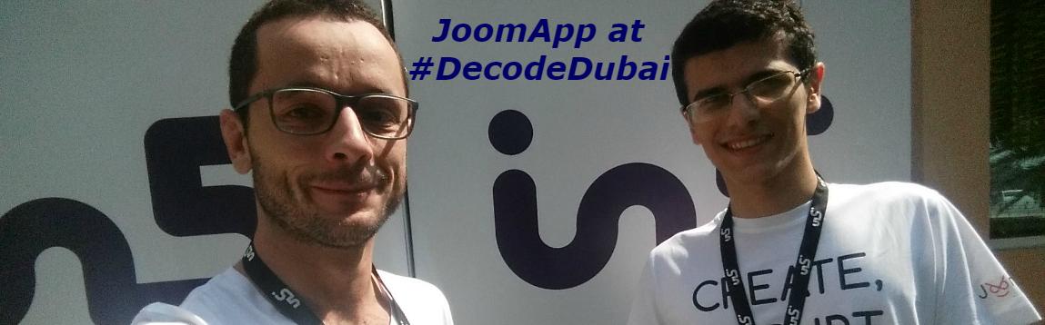 JoomApp at #DecodeDubai 2016