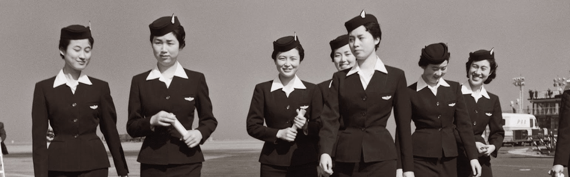 Best Vintage Flight Attendant Uniforms | WOC